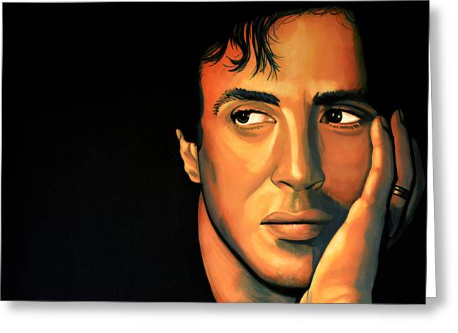 James Paintings Greeting Cards - Sylvester Stallone Greeting Card by Paul  Meijering