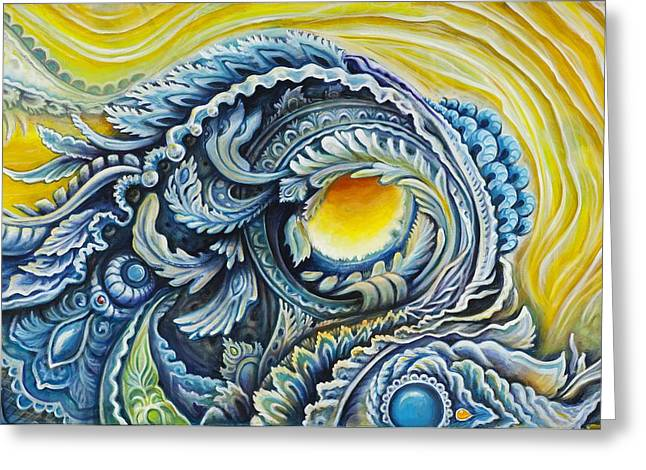 Collaborative Greeting Cards - Symbiosis Greeting Card by Morgan Mandala and Randal Roberts