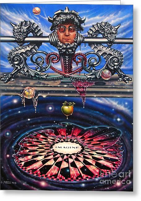 Nebula Paintings Greeting Cards - Symbiotic Love Greeting Card by Ricardo Chavez-Mendez