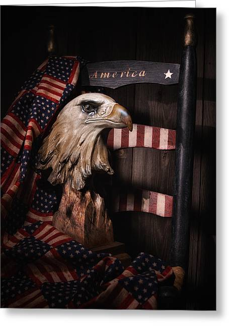 Cloth Greeting Cards - Symbol of America Still Life Greeting Card by Tom Mc Nemar