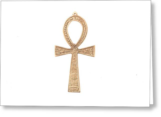 Ancient Jewelry Photographs Greeting Cards - Symbol of life Greeting Card by Tom Gowanlock
