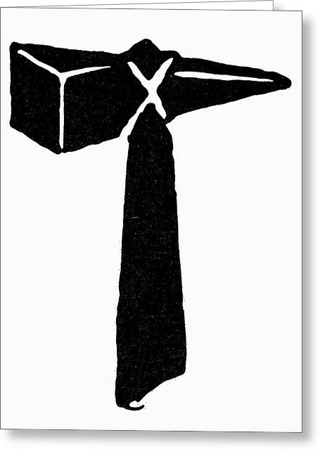 Symbol Thor's Hammer Greeting Card by Granger