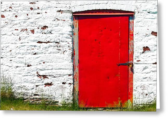 Entryway Greeting Cards - Symbolistic White Wall Greeting Card by Matt Dobson