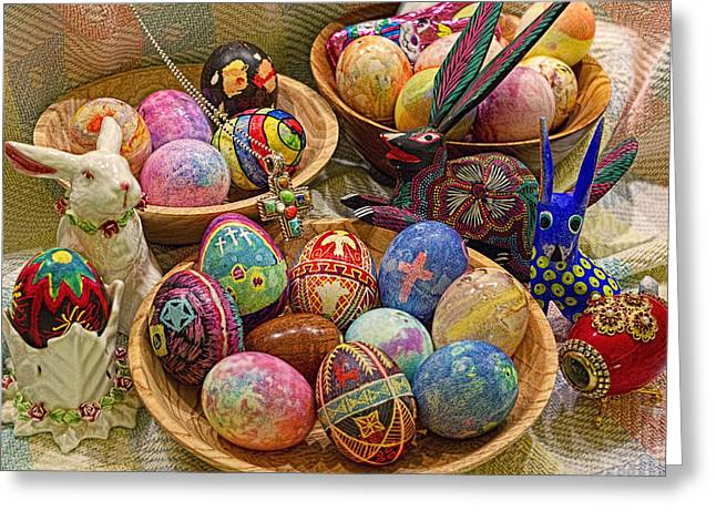 Symbols of Easter- Spiritual and Secular Greeting Card by Gary Holmes