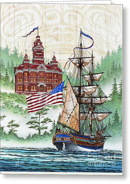 Lady Washington Greeting Cards - Symbols of Our Heritage Greeting Card by James Williamson