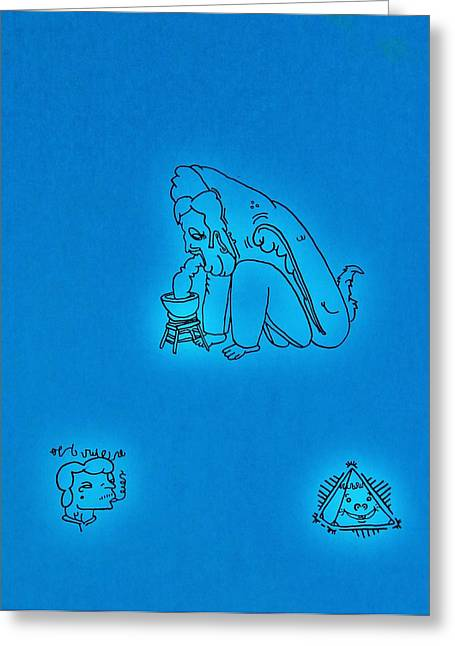 Angels Smoking Greeting Cards - Symbols Greeting Card by Ryan Klass