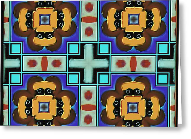 Abstract Digital Paintings Greeting Cards - Symmetrica 347 Greeting Card by Nedunseralathan R