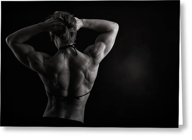 Body Builder Greeting Cards - Symmetry Greeting Card by Monte Arnold
