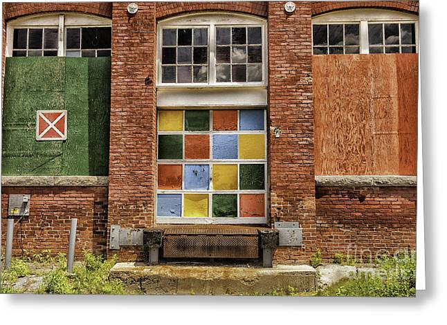 The Berkshires Greeting Cards - Symmetry-Old Manufacturing Mill Greeting Card by Thomas Schoeller