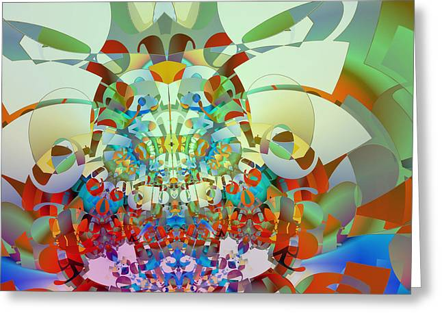 Herb Briley Greeting Cards - Symmetry One Greeting Card by Herb Briley
