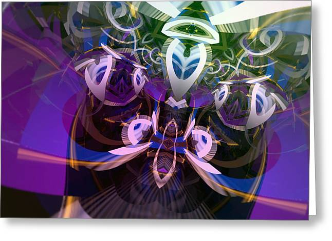 Herb Briley Greeting Cards - Symmetry Two Greeting Card by Herb Briley