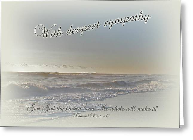 Mother Nature Greeting Cards - Sympathy Greeting Card - Ocean After Storm Greeting Card by Mother Nature