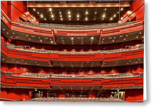 Winter Night Greeting Cards - Symphony Hall Greeting Card by Maria Coulson