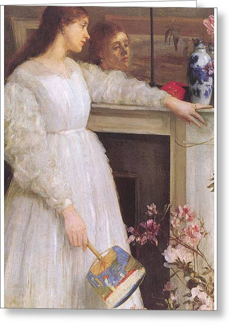 James Abbott Mcneill Whistler Greeting Cards - Symphony in White No 2 The Little White Girl Greeting Card by James Abbott McNeill Whistler