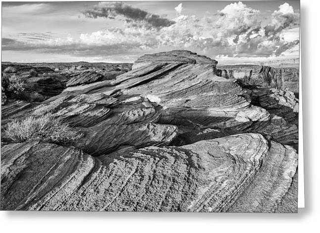 Dineh Greeting Cards - Symphony of Frozen Waves Horseshoe Bend Page Glen Canyon Arizona - Navajo Nation Greeting Card by Silvio Ligutti