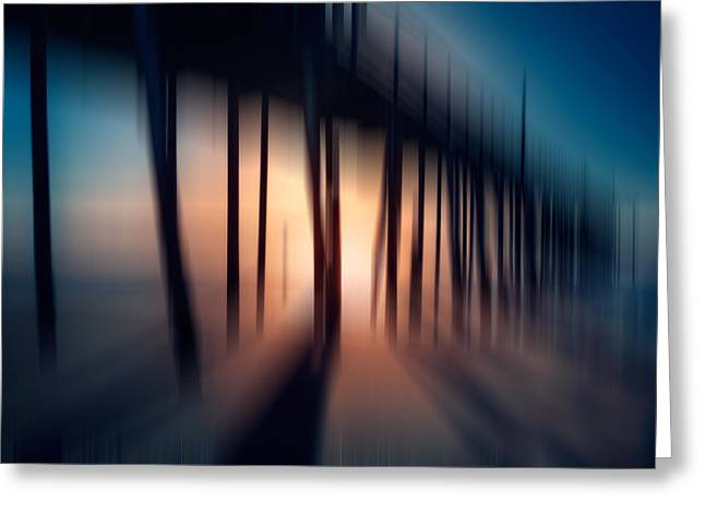 Frisco Pier Greeting Cards - Symphony of Shadow - a Tranquil Moments Landscape Greeting Card by Dan Carmichael