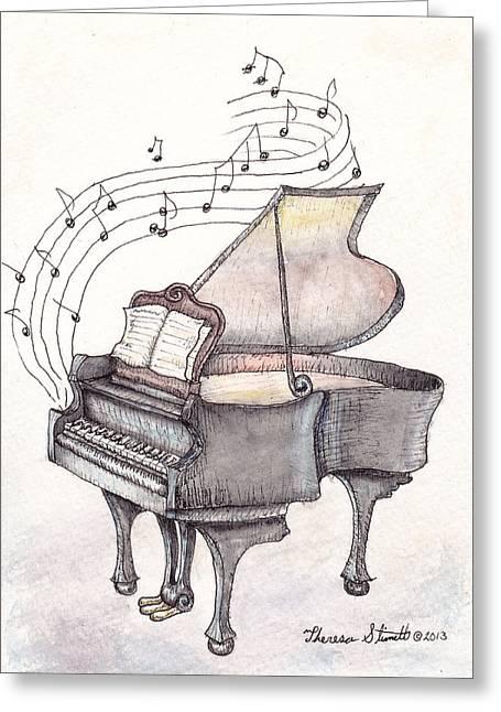 Symphony Greeting Card by Theresa Stinnett