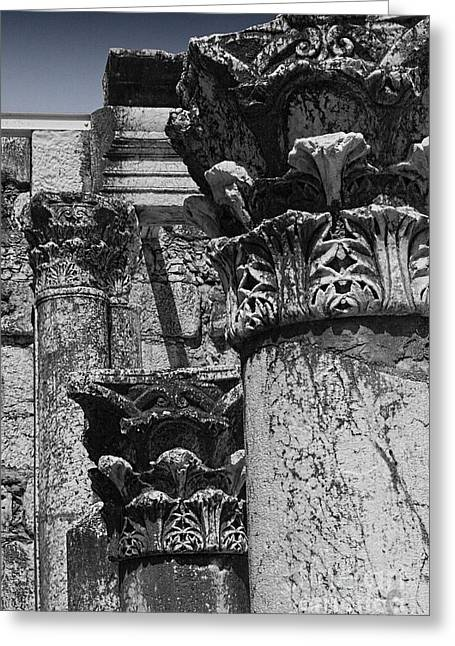 Greek Columns Greeting Cards - Synagogue Stone Greeting Card by Tom Griffithe