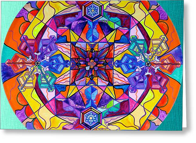 Frequency Products Greeting Cards - Synchronicity Greeting Card by Teal Eye  Print Store