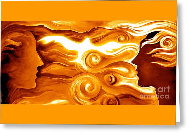 Synergy In Love Greeting Card by Gem S Visionary