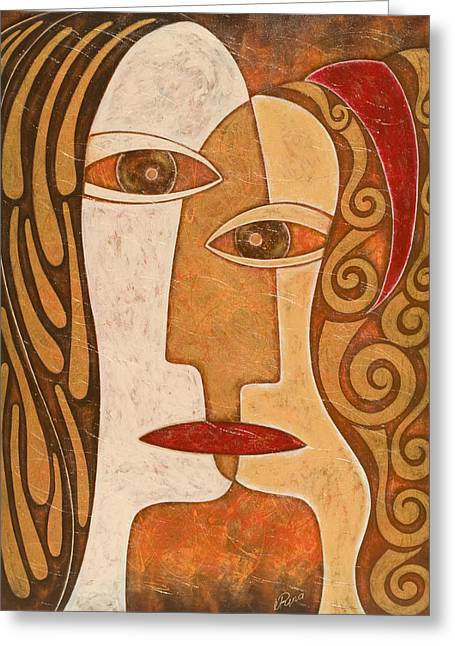 Large Scale Mixed Media Greeting Cards - Synergy Greeting Card by Irina Krakov