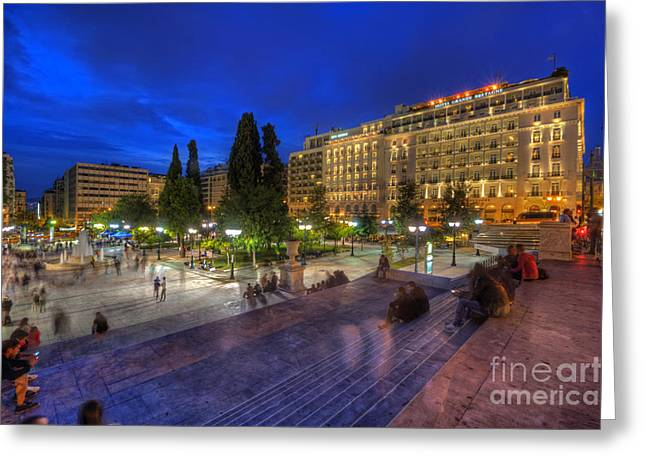 Syntagma Square Greeting Card by Yhun Suarez