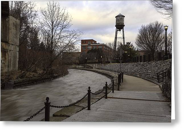 Franklin Greeting Cards - Syracuse Creekwalk Greeting Card by Everet Regal