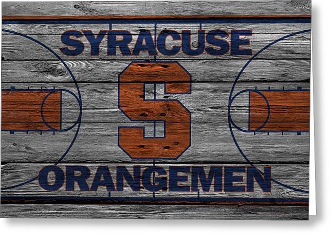 Duke Greeting Cards - Syracuse Orangemen Greeting Card by Joe Hamilton