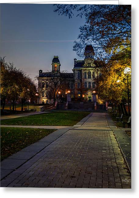 The Hills Greeting Cards - Syracuse University  Greeting Card by Everet Regal