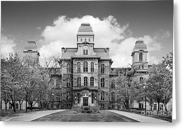 Hall Photographs Greeting Cards - Syracuse University Hall of Languages Greeting Card by University Icons