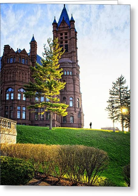 Orange Tower Greeting Cards - Syracuse University Greeting Card by Vicki Jauron