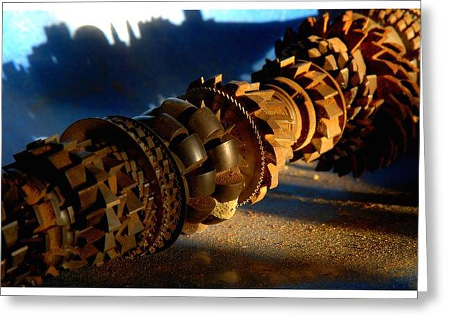 Axle Gear Greeting Cards - T-2013-0816-0737 Greeting Card by David Truog