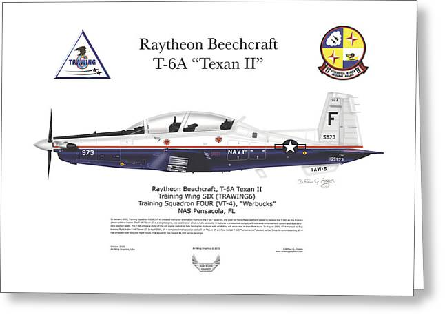 Steve Eggers Greeting Cards - T-6A JPATS Texan II Greeting Card by Arthur Eggers
