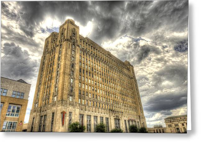 Hdr Landscape Greeting Cards - T and P building Fort Worth Greeting Card by Pair of Spades
