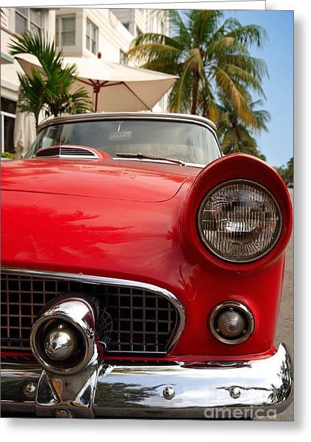 Miami Photographs Greeting Cards - T-Bird 2 Greeting Card by Rod McLean