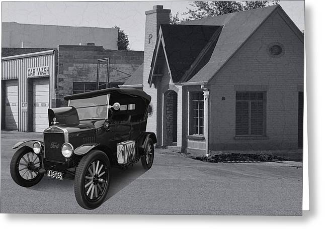 Ford Model T Car Greeting Cards - T in O K Greeting Card by Bill Dutting