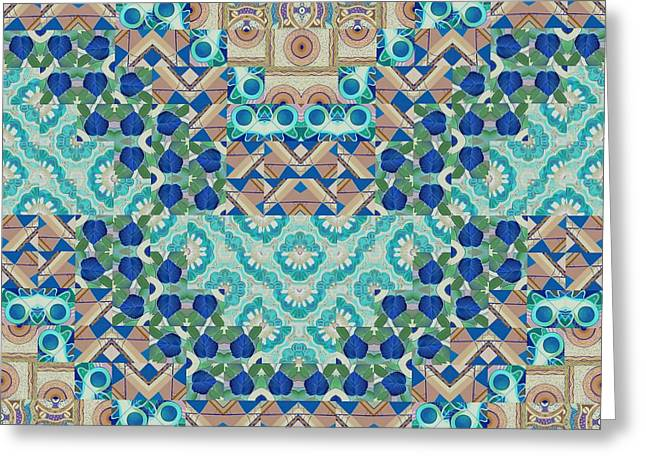 Sand Patterns Mixed Media Greeting Cards - T J O D 5-5 Arrangement 2 Inverted Greeting Card by Helena Tiainen