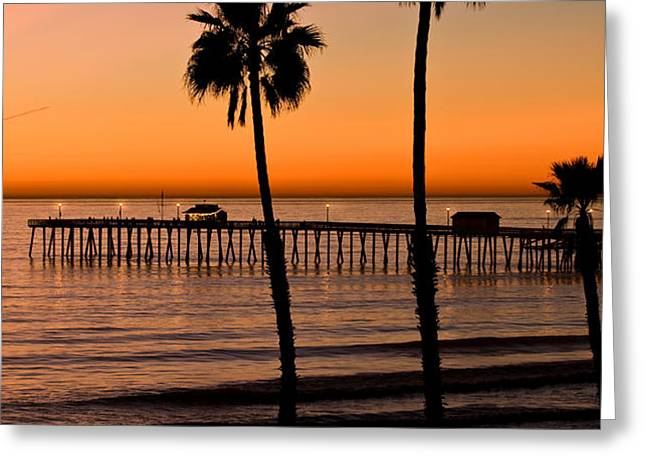 T Street Pier San Clemente California from the book MY OCEAN Greeting Card by Artist and Photographer Laura Wrede