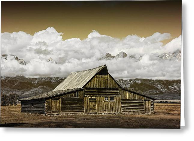 Brown Tones Greeting Cards - T.A. Moulton Barn in the Grand Tetons Greeting Card by Randall Nyhof