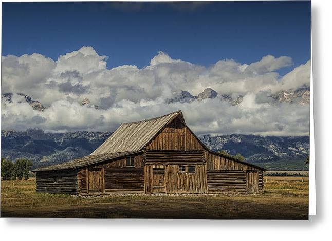 Brown Tones Greeting Cards - T.A. Moulton Barn on Mormon Row in the Grand Tetons Greeting Card by Randall Nyhof