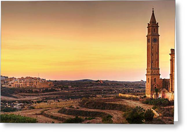 Basillica Greeting Cards - Ta Pinu and Gharb Greeting Card by Ian  Good