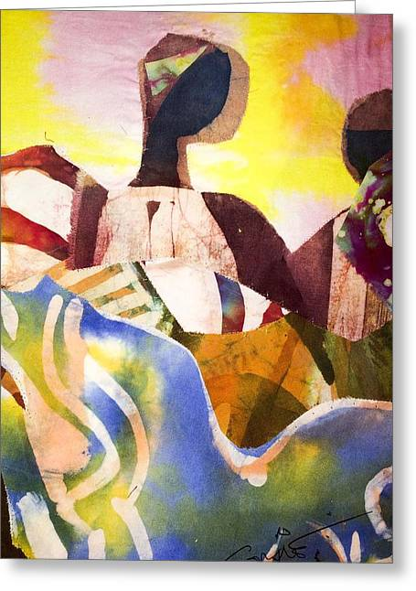 Pittsburgh Tapestries - Textiles Greeting Cards - Taalibe Greeting Card by Saihou Njie