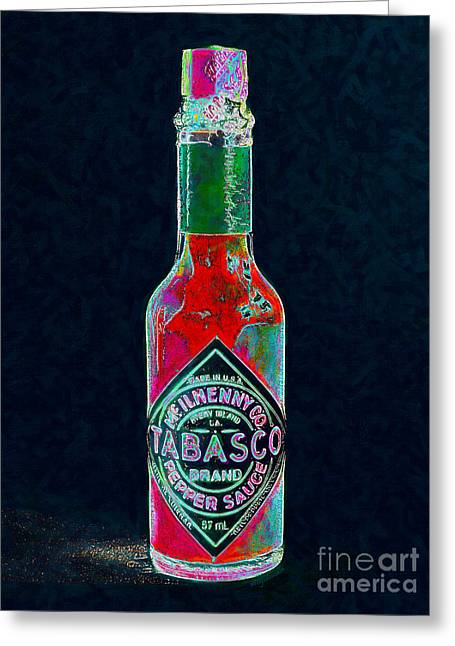 Wing Chee Tong Greeting Cards - Tabasco Sauce 20130402 Greeting Card by Wingsdomain Art and Photography