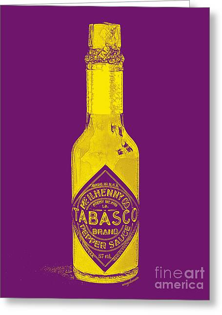 Wing Chee Tong Greeting Cards - Tabasco Sauce 20130402grd Greeting Card by Wingsdomain Art and Photography