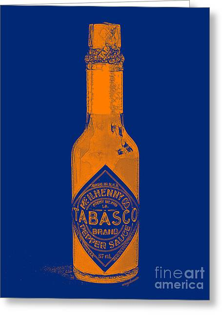 Wing Chee Tong Greeting Cards - Tabasco Sauce 20130402grd2 Greeting Card by Wingsdomain Art and Photography