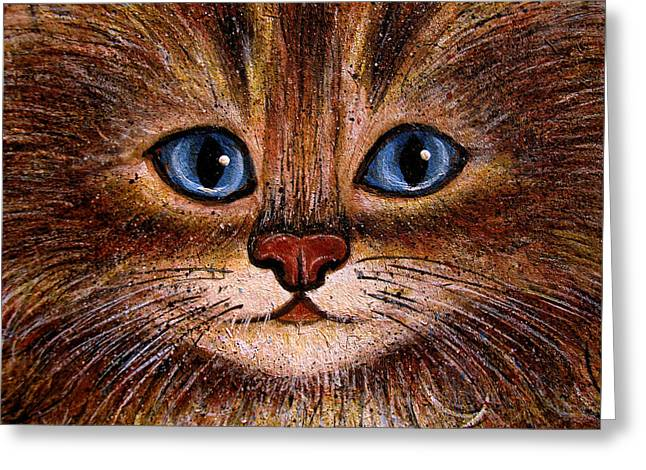Brushtrokes Greeting Cards - Tabby Greeting Card by Natalie Holland