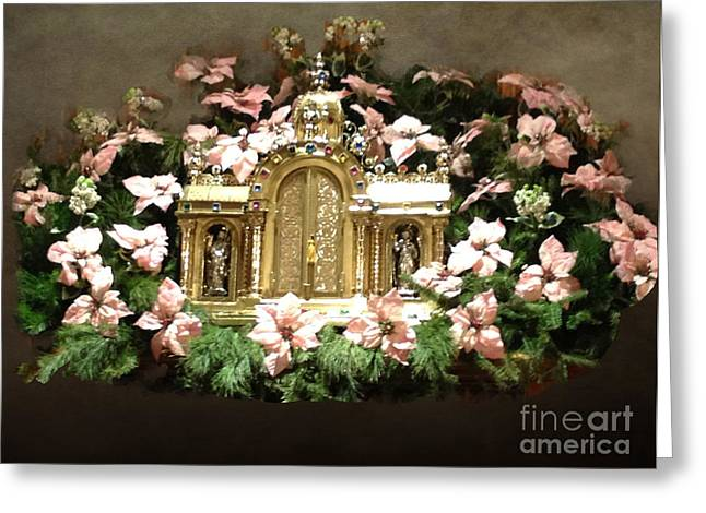 Reverence Greeting Cards - Tabernacle of the Lord Greeting Card by Luther   Fine Art
