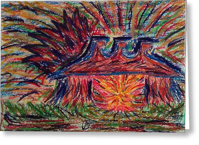 Dwell Pastels Greeting Cards - Tabernacle with Him Greeting Card by Cathy Bishop
