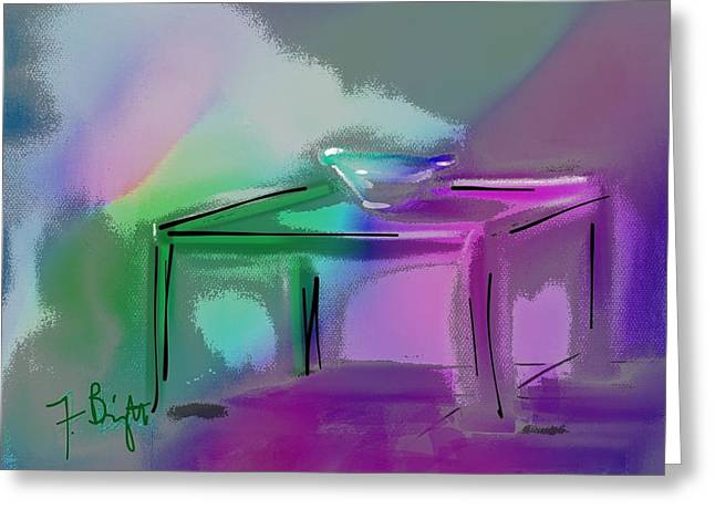 Supper Bowl Greeting Cards - Table Abstract Still Life Greeting Card by Frank Bright