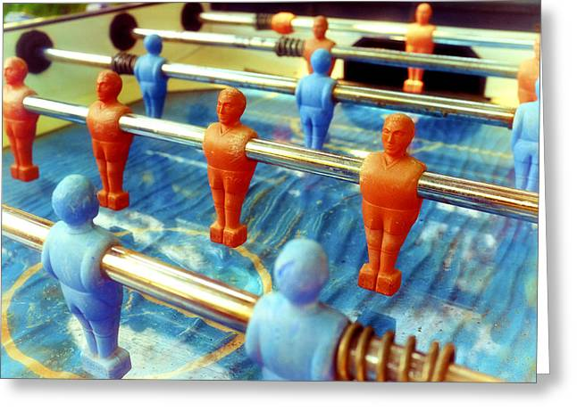Fussball Greeting Cards - Table football Greeting Card by Fabrizio Troiani